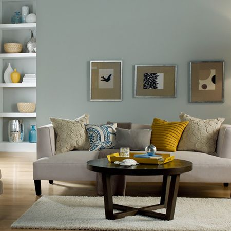 Robins Egg Blue Is Combined With Mustard Yellow And Taupe