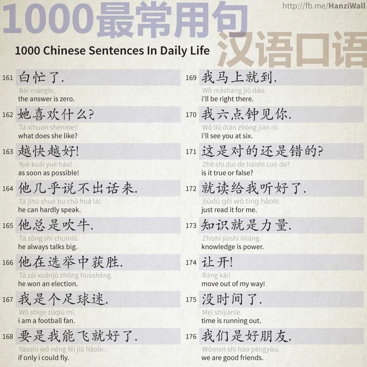1000 Chinese Sentences In Daily Life - Part 11