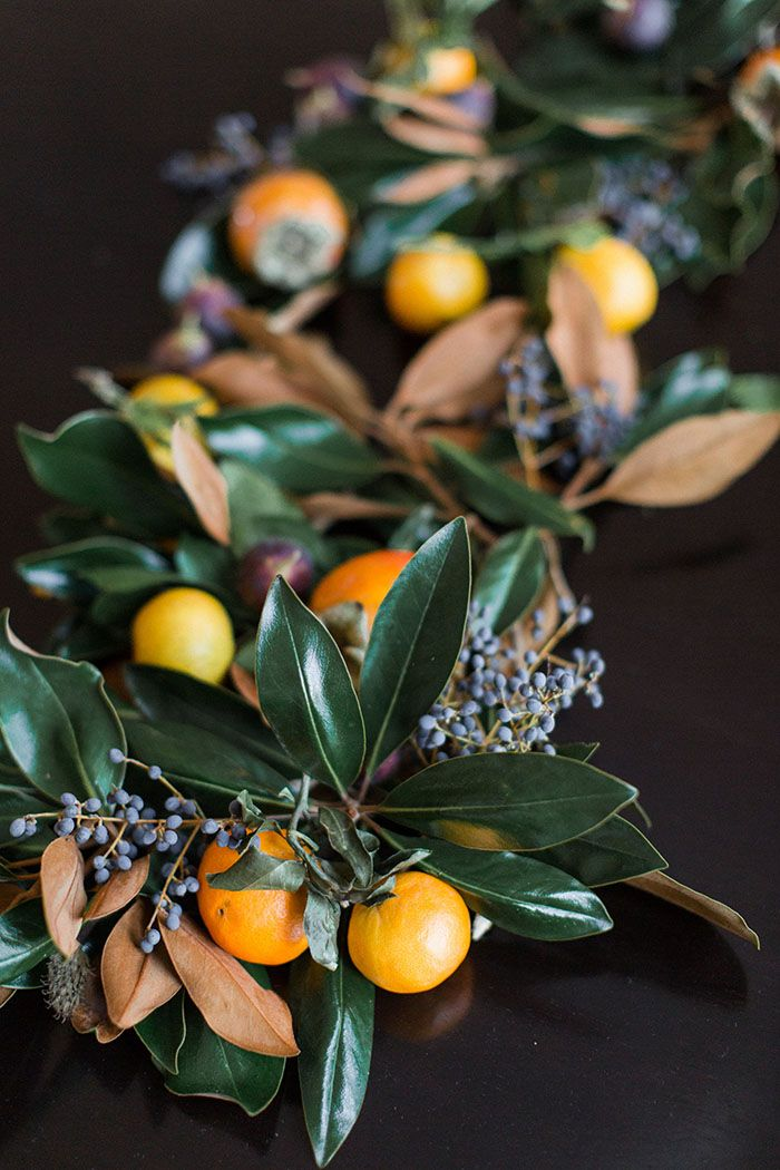 Best of the web magnolia and fruit garland by jm flora