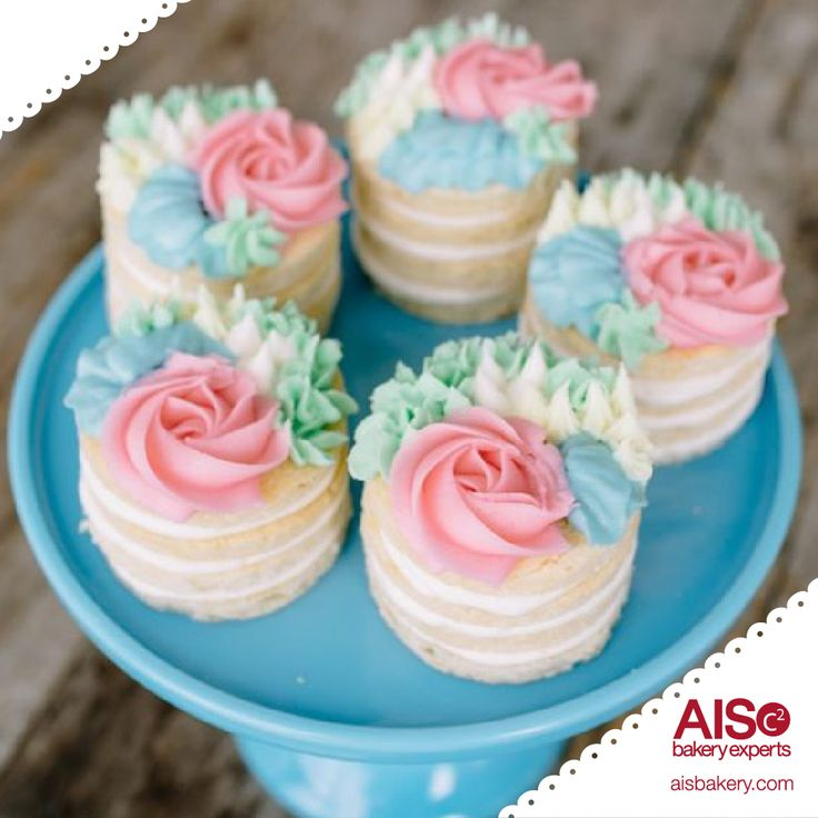 Mini porciones de pastel.