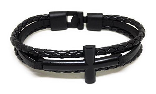 http://picxania.com/wp-content/uploads/2017/09/sideways-cross-bracelet-leather-bracelet-for-men-black-cross-black.jpg - http://picxania.com/sideways-cross-bracelet-leather-bracelet-for-men-black-cross-black/ - Sideways Cross Bracelet | Leather Bracelet For Men (Black-Cross-Black) -   Price:    Sideways Cross Bracelet | Leather Bracelet For Men  This bracelet using the simple design,which is suitable for you to wear at any occasion and matched with any outfit.Leather wrap brac