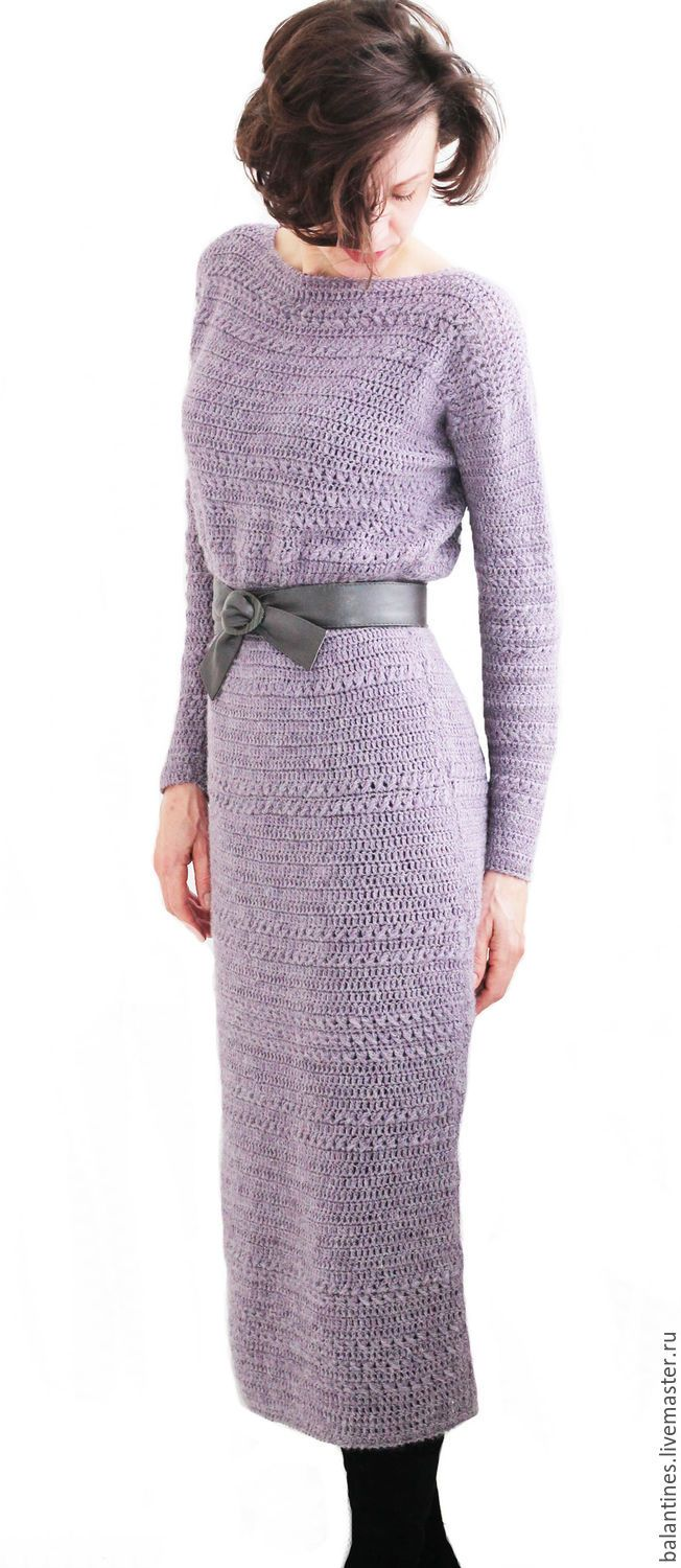 Buy Dress crochet handmade Purple haze - knit dress, knit dress crochet