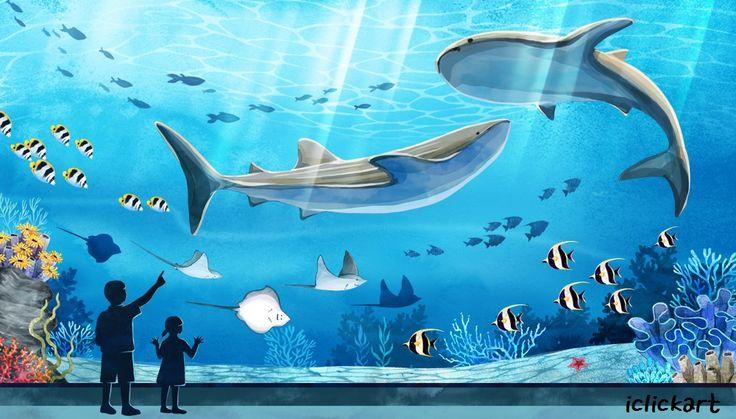 #aquarium #blue #whale #sea #image #iclickart #npine #illustration   #수족관 #고래 #바다 #어린이 #이미지 #아이클릭아트 #엔파인 #일러스트