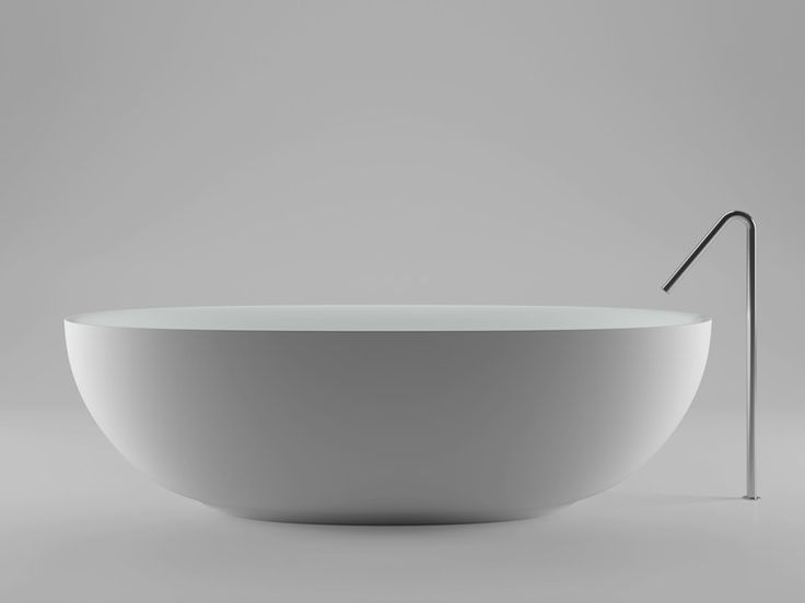 Bañera independiente de Ceramilux® FISHER ISLAND Colección Bañeras by Boffi | diseño Piero Lissoni