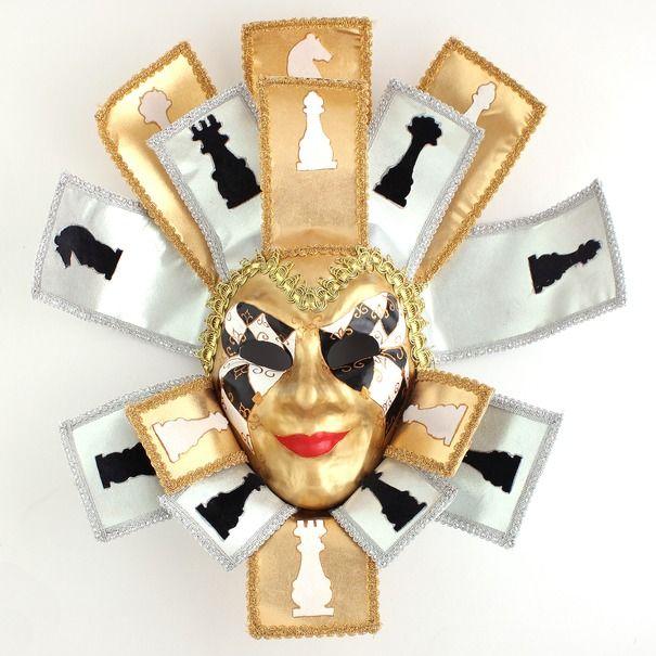 Ручная работа Интерьерная маска Шах-Мат