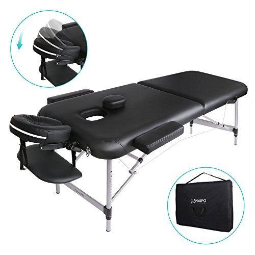 Lettino Da Massaggio Portatile In Alluminio.Naipo Lettino Da Massaggio Deluxe Professionale Portatile A 2