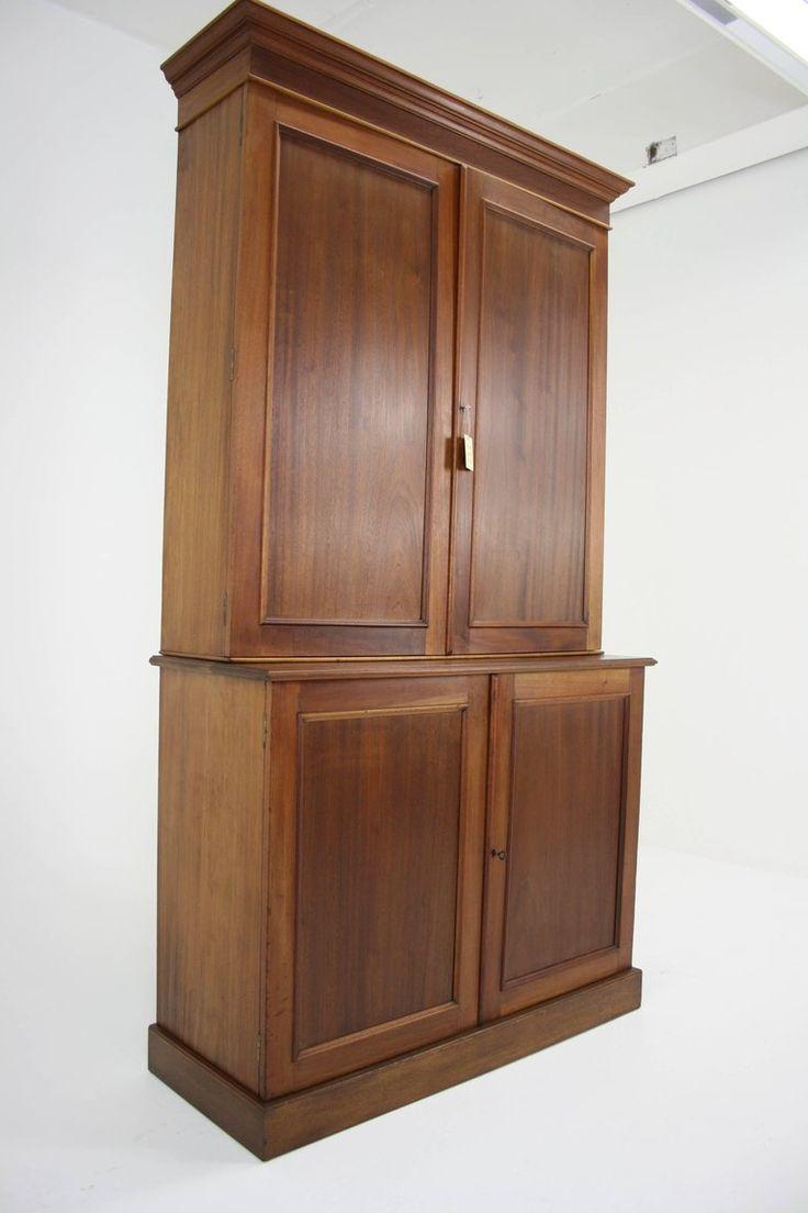 Chateau bookcase walnut leaning bookcase white modern bookcase walnut - Antique Mahogany Office Cabinet Or Bookcase
