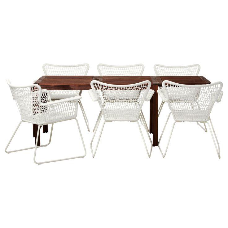 ÄPPLARÖ/HÖGSTEN Table and 6 chairs - IKEA