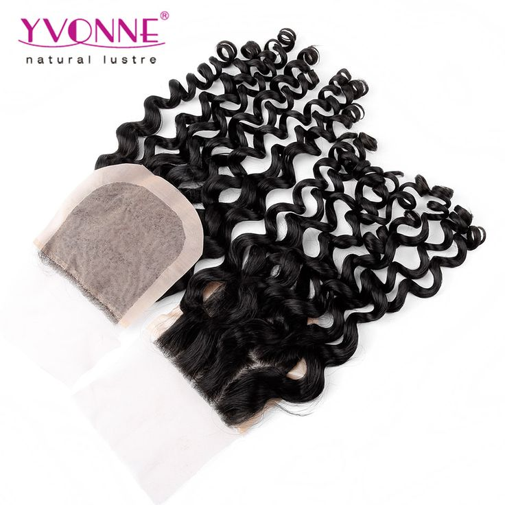 Brazilian Silk Base Closure,100% Italian Curly Virgin Human Hair Closure 4x4,10-18 Inches Aliexpress Yvonne Hair Products