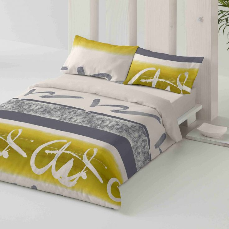 Duvet cover. Words. Bedroom. Bed. Decor. Green. Style.