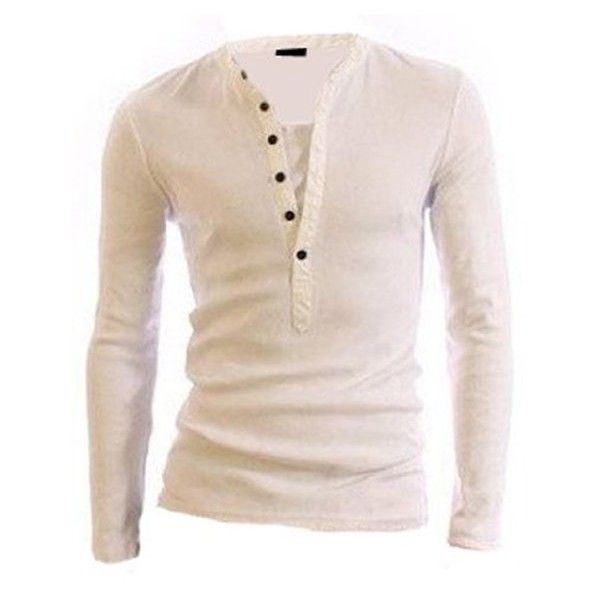 Men's Stylish Casual Formal Slim-Fit Polo Sweat T-Shirt Smart Menswear... ($22) ❤ liked on Polyvore featuring men's fashion, men's clothing, men's shirts, men's polos, mens slim shirts, mens polo shirts, mens white shirt, mens white polo shirt and mens slim fit shirts