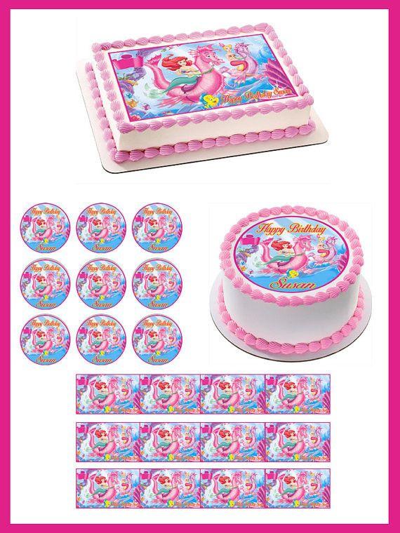 Edible Cake Images Little Mermaid : 1000+ ideas about Little Mermaid Cake Topper on Pinterest ...