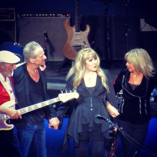 aft-photo: John McVie, Lindsey Buckingham, Stevie Nicks and Christine McVie  Fleetwood Mac at The SSE Hydro, Glasgow - 8th July 2015