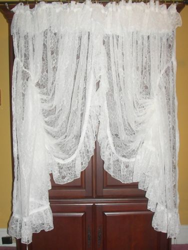 Vintage Victorian Chic Priscilla French Country Net Fl Lace D Curtains In 2019 Cute