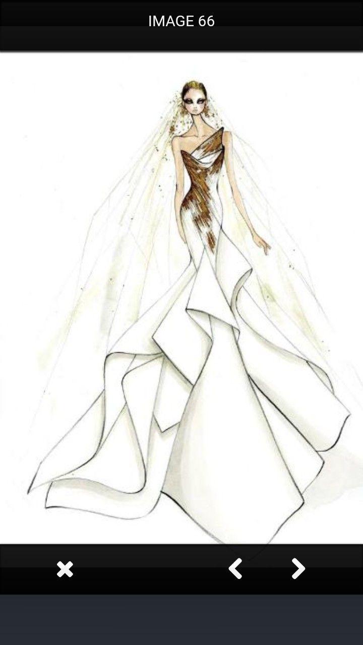 Wedding dress drawing  Pin by Debra Anne on ART  Pinterest