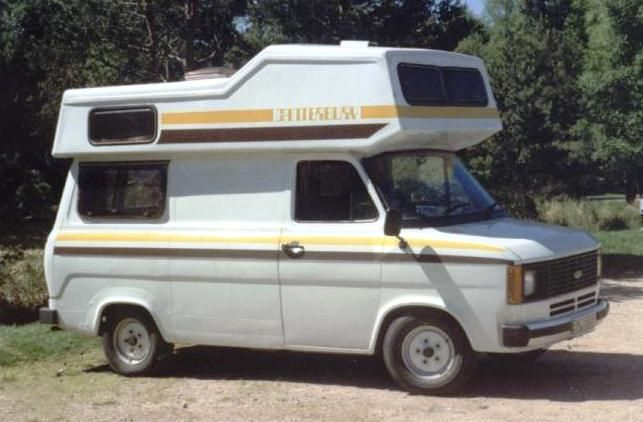 """Mk2 Ford Transit Camper - with a """"turtle top"""""""