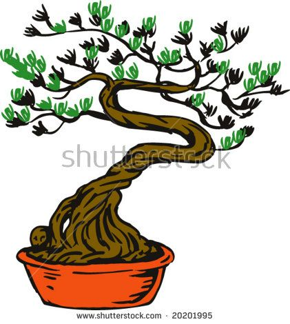 Bonsai tree  #bonsai #cartoon #illustration