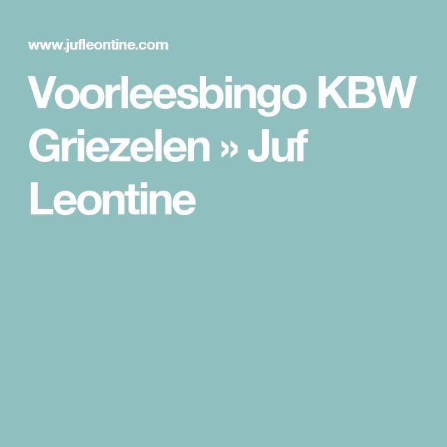Voorleesbingo KBW Griezelen » Juf Leontine