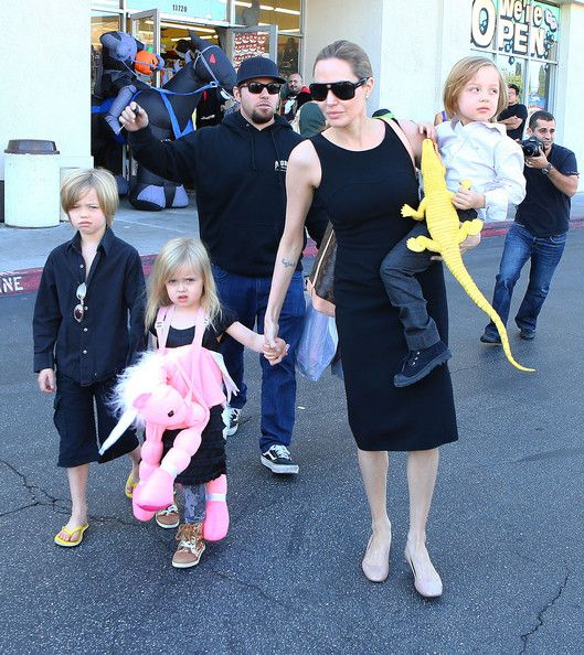 Angelina Jolie and Knox Jolie-Pitt - Angelina Jolie Takes Her Kids Shopping For Halloween Costumes