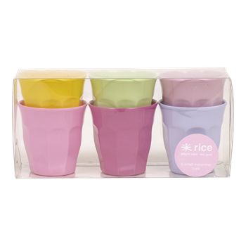 Melamine Small Curved Cups -  6 Pack