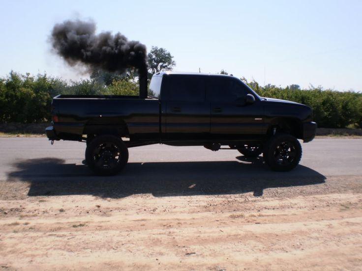 Lifted Dodge Trucks With Stacks Cummins Roll coal ;) #diesels #trucks