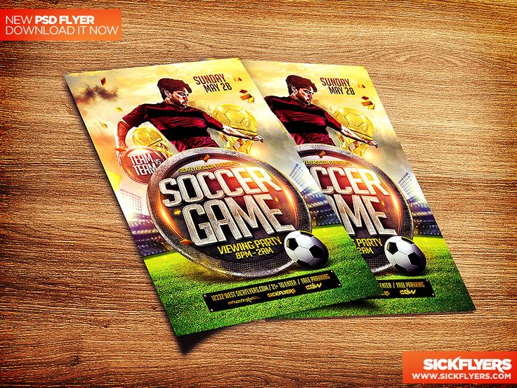 205 best DRIBBBLE PSDS images on Pinterest Flyer template, Role - soccer flyer template