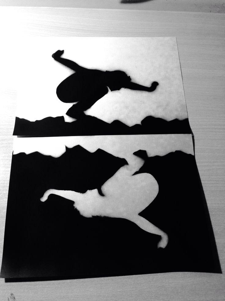 Into the wild - stencil black and white