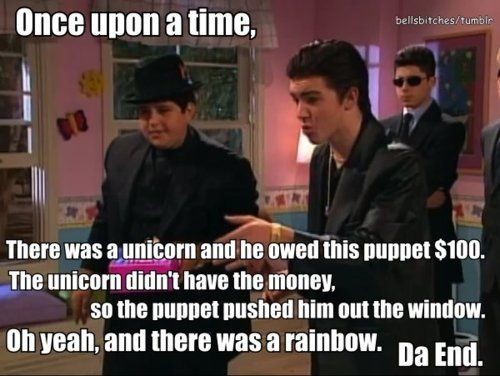 There was a rainbow. I remember this!!