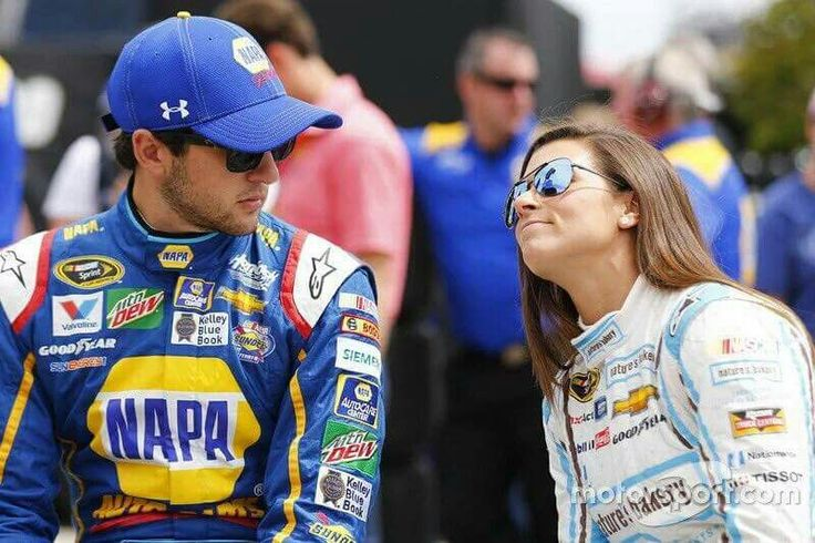 YES MY 2 FAV DRIVERS OF ALL TIME!!! Look at the face Chase is giving Danica. Lol