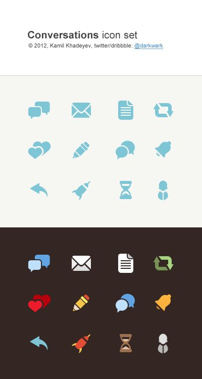 conversations icon set