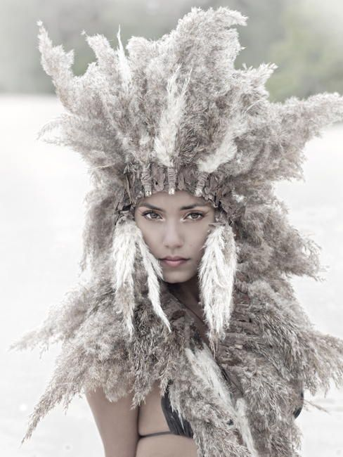 Native American Indian Headpiece made out of grass
