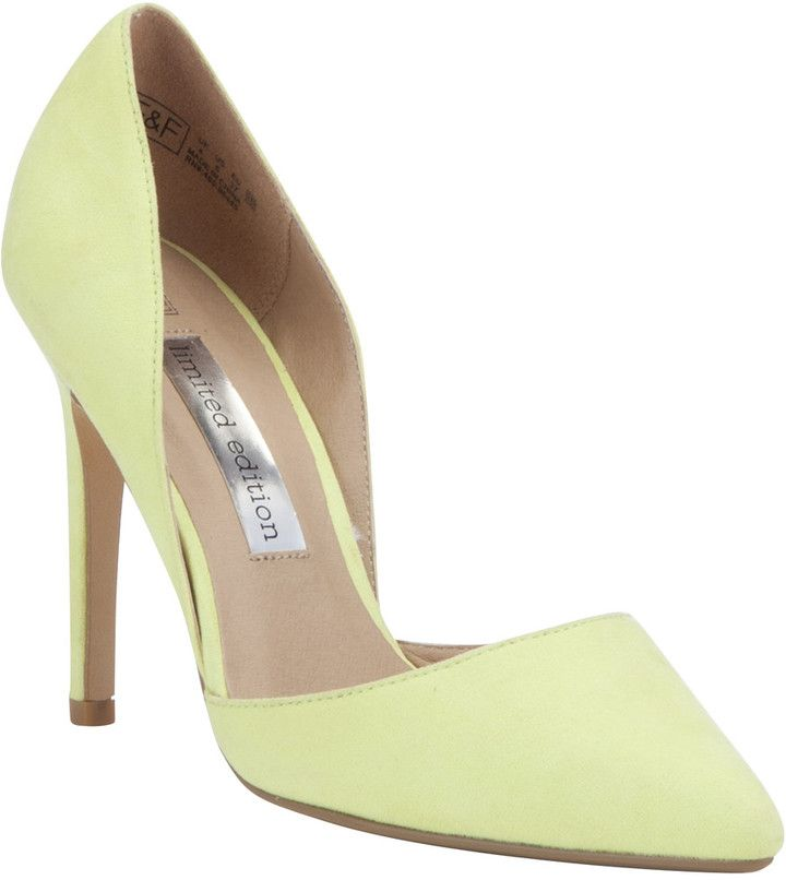 F&F Limited Edition Pointed Two Part Stiletto Court