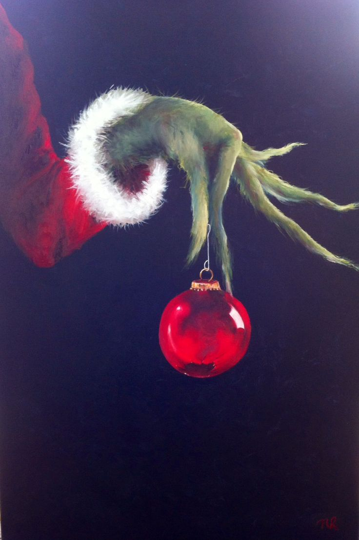 The Grinch is my most favourite Christmas movie so painting this was fun!