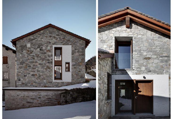 Nelle montagne di Madesimo, stalla e fienile diventano una casa