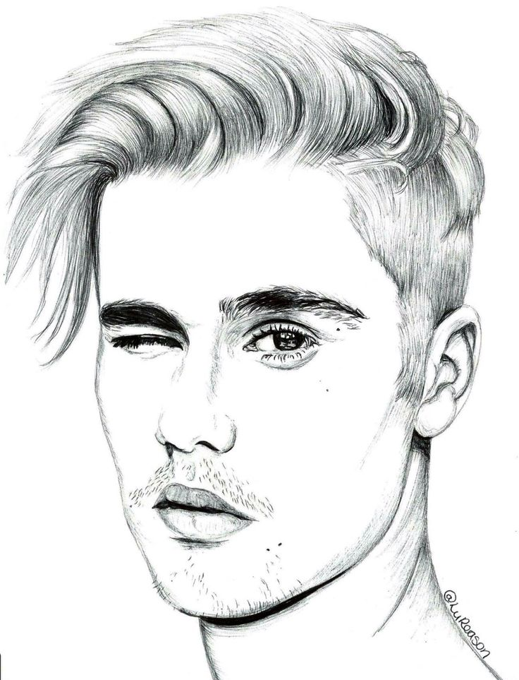 Line Art Wajah : Justin bieber drawing pinterest