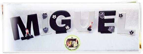 #letras decoradas #decoracao #decor #time #atleticomineiro #galo #futebol
