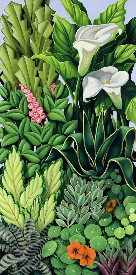 Foliage I by Catherine Abel {2003} oil on canvas