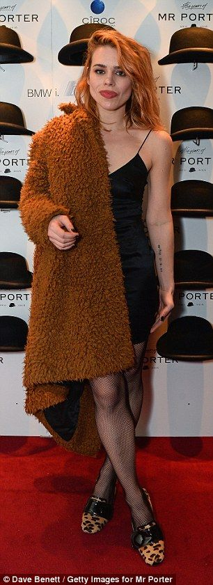 Chic: Putting her enviable curves on display in a little black dress, the Penny Dreadful star looked effortlessly chic