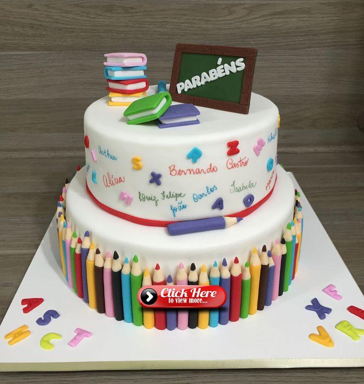 Bolo Escola Bolo Lapis By Fe Neves Bolos Com Arte Torte Einschulung Schultute Torte Torte Schulanfang