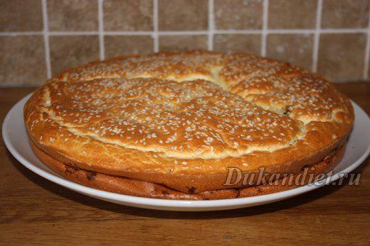 Пирог с куриной печенью | Диета Дюкана