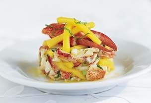 Chilled Lobster with Mango and Mint | Sweet Weeds (Salad) | Pinterest