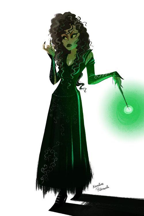 Karoline Pietrowski Illustration — I had a try at Bellatrix.I just can't draw evil... | via Tumblr