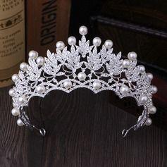 Ladies Beautiful Rhinestone/Imitation Pearls Tiaras