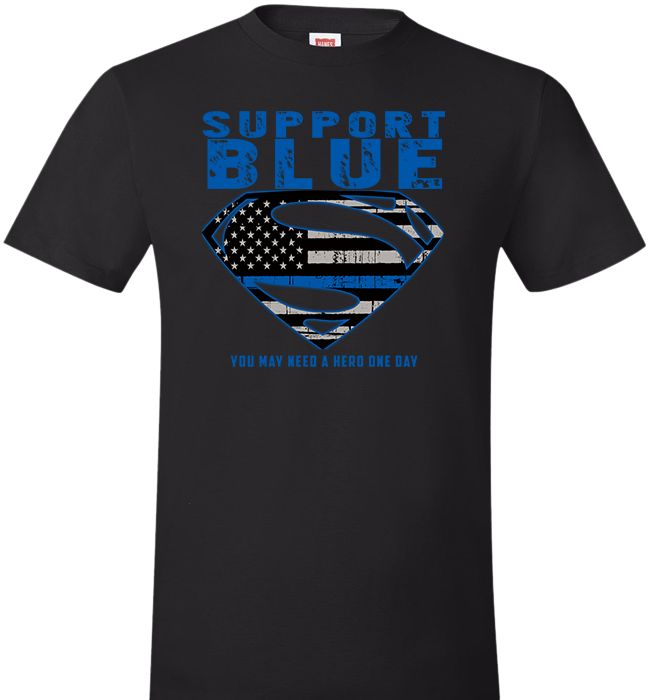 Support The Blue Superman Shirt Police Pinterest