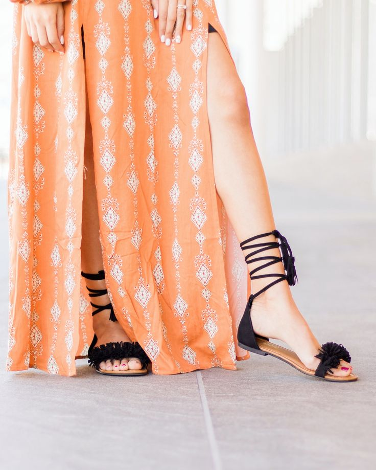 Black fringe sandals from Payless Shoe Source Model: Anne Boswell Photographer: Madison Twede