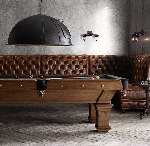 Brunswick Vintage 1906 Billiards Table great room pingpong seating! - comes in a bench too.