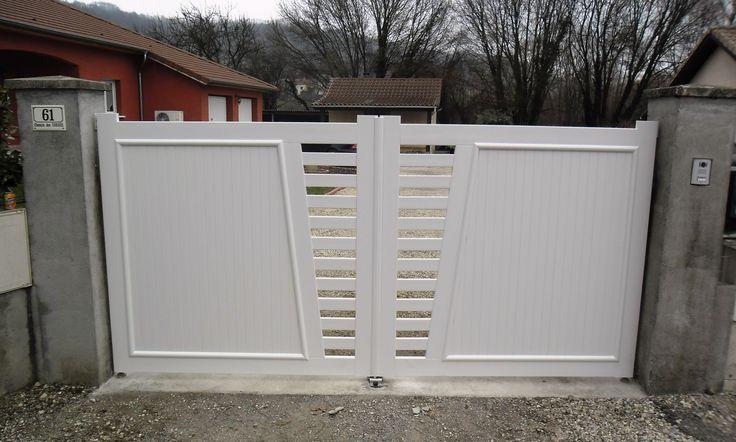Ber ideen zu portail pvc auf pinterest portillon for Portillon blanc pvc