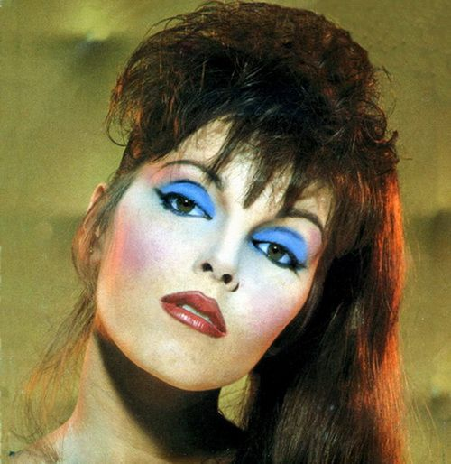 Blue Eyeshadow 80s Party Inspiration