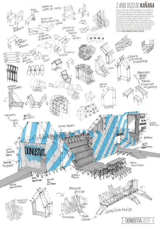 Propuesta 'Ayer dijiste mañana', pabellón efímero para Donostia/San Sebastián, Capital Europea de la Cultura 2016.