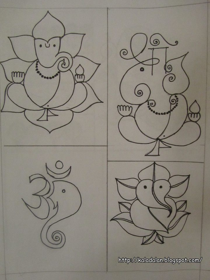 Kala Dalan: Ganesha inspired Rangoli Patterns | Art ...